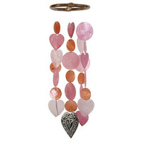 Sweet Heart Capiz Shell Wind Chime