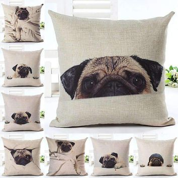 Pug-A-Boo Throw Pillows
