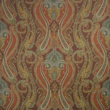 Clarence House Fabric 34789-3 Fantine Paisley Red Clay