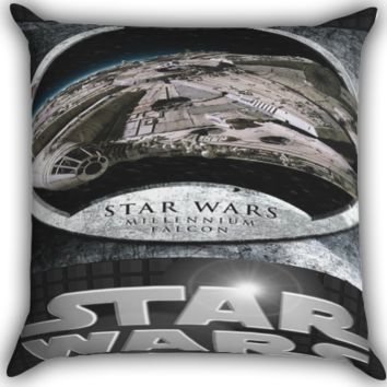 Star Wars Millennium Zippered Pillows  Covers 16x16, 18x18, 20x20 Inches