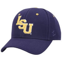 Zephyr LSU Tigers Purple DH Letter Fitted Hat