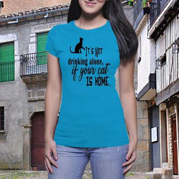 Not Drinking Alone, Wine T Shirt, Funny Drink Shirt, Wine Lover Shirt, Drink Wine Shirt, Work Shirt