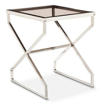 Nate Berkus™ Silver and Smoked Glass Accent Table: Target