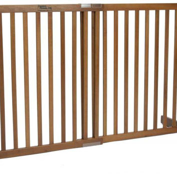 Dynamic Accents Free Standing Expandable Small Tall Pet Gate - Artisan Bronze