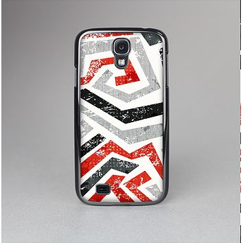 The Red-Gray-Black Abstract V3 Pattern Skin-Sert Case for the Samsung Galaxy S4