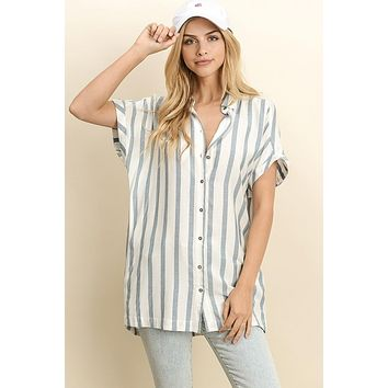 Modern Moment Tunic - Carolina Blue
