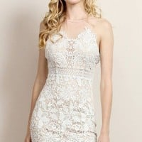 Franco White Lace Dress