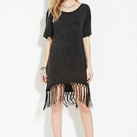 Fringe-Hem Dress