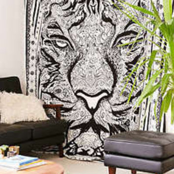 Magical Thinking Tiger Tapestry Mandala Throw Wall Hanging Queen Hippie Decor