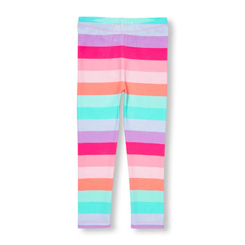 Toddler Girls Neon Rainbow Stripe Leggings | The Children's Place