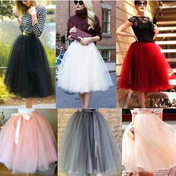 Women's  Princess Ballet Tulle Tutu Skirt- Free Shipping