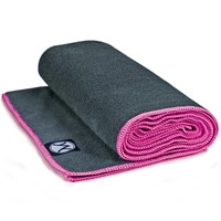 "Youphoria Yoga Towel - (24""x72"") - Microfiber Hot Yoga Towel, Protect Your Yoga Mat and Improve Your Grip! - Perfect for Bikram Yoga Towel, Ashtanga Yoga Towel, Hot Yoga Towel - Non Slip, Skidless If Dampened - Ultra Absorbent, Machine Washable - 100% Sati"