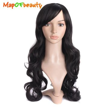 Long Wavy Hair Wigs for Women Heat Resistant Cosplay Wig Party