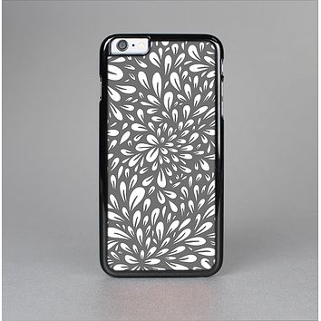 The Gray & White Floral Sprout Skin-Sert Case for the Apple iPhone 6