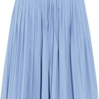 J.Crew Pleated cotton-blend poplin skirt