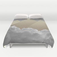 Silence is the Golden Mountain (Stay Gold) Duvet Cover by Soaring Anchor Designs