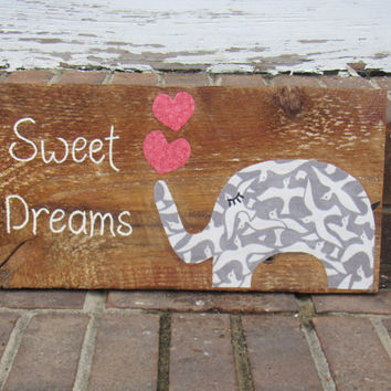 Hand painted SWEET DREAMS reclaimed wood sign