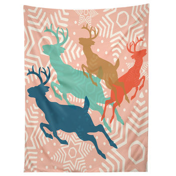 Heather Dutton Dashing Through The Snow Serene Tapestry