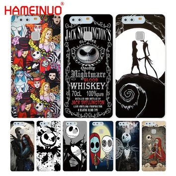 HAMEINUO Jack&Sally Nightmare Before Christmas Cover phone Case for huawei Ascend P7 P8 P9 P10 lite plus G8 G7 honor 5C 2017