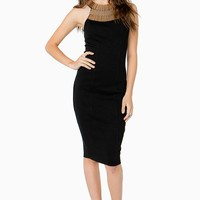 Hard Metal Midi Dress
