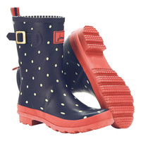 Navy Spot Mollywelly Rain Boot - Women