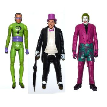 "DC Universe Batman 1966 Tv Series Riddler Joker Penguin 6"" Loose Action Figure"