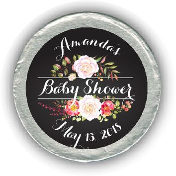 Floral Baby Shower Chocolate Coins