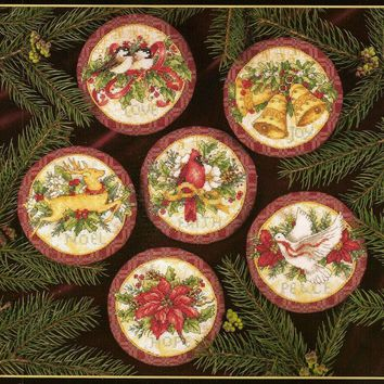 Counted Cross Stitch Kit Old World Holiday Ornaments Ornament dim 08813