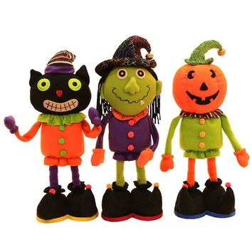Halloween Decorations Pumpkin Ghost Shrink Stretch Doll Home Decor Halloween DIY Party Supplies Halloween Children's Gifts Doll