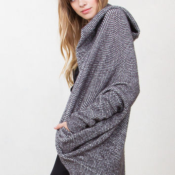 Bella Slouchy Wool Cardigan With Dolman Sleeves