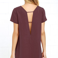 Mumbai the Way Washed Burgundy Shift Dress