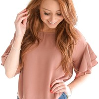 Pretty Lady Ruffle Top