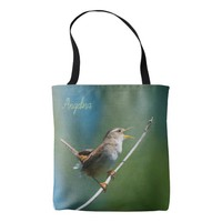 Singing wren tote bag