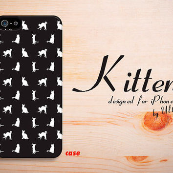 Cute Kitten iPhone 5C case black iPhone 5S Case  by UltraCase