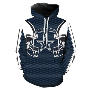 Dallas Cowboy Hoodies 3D Printed Sweatshirts Men Women Autumn Winter Casual Hooded Coat Hip Hop Streetwear Pullover Tops Adults