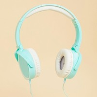 Typo Light Blue Reverb Headphones at asos.com