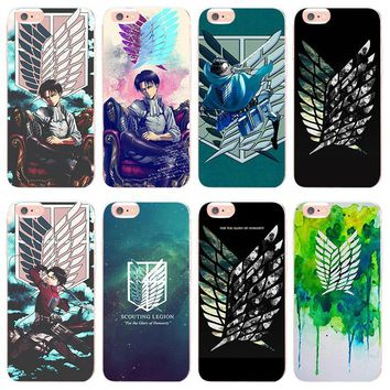 Cool Attack on Titan MaiYaCa  Jiyuu no Tsubasa for iphone X XS XR XSMax 5 5s SE case TPU Transparent For iphone 7 8plus 6 6s Thin case AT_90_11