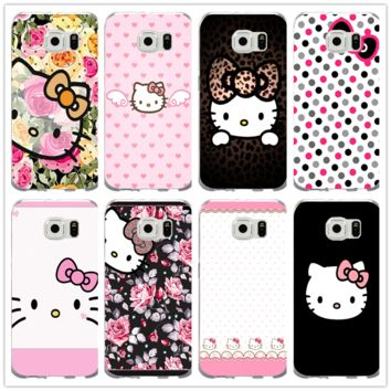 Cute Hello Kitty Minnie Cartoon Cat For Samsung Galaxy S2 S3 S4 S5 mini S6 S7 edge Plus S8 S9 Plus Shell Soft TPU Phone Cases