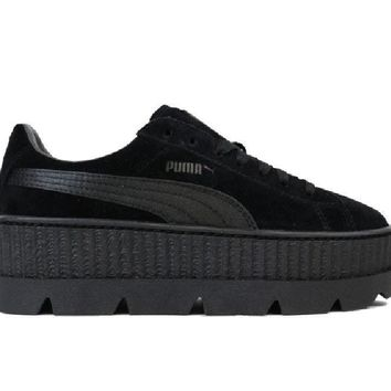 puma fenty cleated suede creeper black 366268 04
