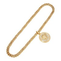 Versace - Single Medusa Necklace with Crystal