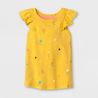 Toddler Girls' Short Sleeve T-Shirt - Cat & Jack™ Yellow Beet