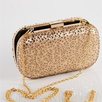 Beaded Clutch Bag With Gold Chain - Gold at Lucky 21 Lucky 21