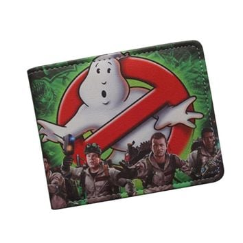 Antique Classic Cartoon Movie Wallet GHOSTBUSTERS Wallet Ultra Slim Leather Bifold Men Money Bag GHOST BUSTERS Purse Card Holder