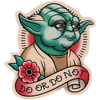Star Wars Yoda Do Or Do Not Sticker