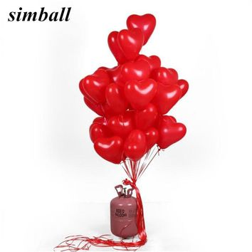 10pcs/lot Romantic 10 Inch Love Heart Latex Helium Balloons Wedding Decoration Globos Valentines Day Happy Birthday Party Ballon