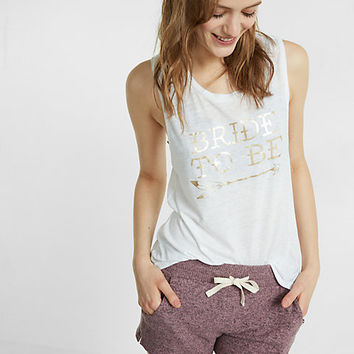 express one eleven bride to be graphic tank