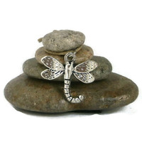 Dragonfly Rock Cairn, Change, Reincarnation, Positive Energy, Power of Life, Renewal, Zen, Stone Cairn, Stacked Rocks Stones