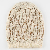 Pointelle Double Layer Beanie Camel One Size For Women 24522841001