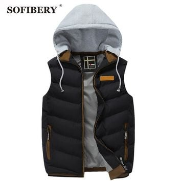 SOFIBERY Vest Coats & Jackets Men's Down Coats Fall and Winter leisure fashion Slim jacket men sleeveless vest