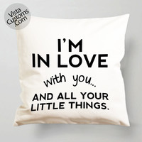 Cute love quotes One Direction 5 Second Of Summer pillow case, cover ( 1 or 2 Side Print With Size 16, 18, 20, 26, 30, 36 inch )